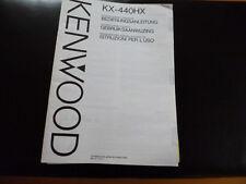 Original Bedienungsanleitung Kenwood KX-440HX