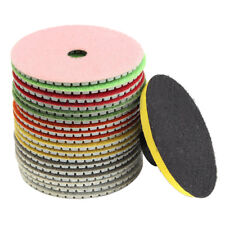 19PCs Set 4inch Diamond Polishing pads Granite Marble Concrete Stone L5B1