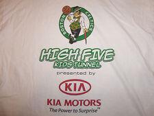 NBA Boston Celtics Basketball High Five Kids Tunnel Kia White Graphic T Shirt L