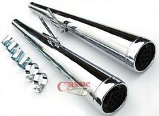 Dunstall Style Silencers To Suit Yamaha XS650, XS250, XS500 Motorcycles
