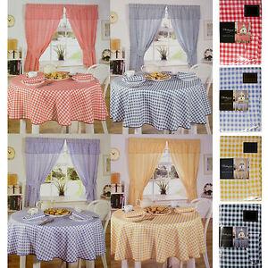 A Quadretti Cucina Lino IN 4 Colori - Scelta Tovaglie, Tovaglioli, Tende