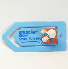 53751 KISSEN Schlumpf auf Briefklammer SCHLEICH smurf paperclip ERLEDIGT SICH ..