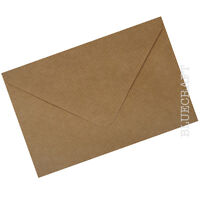 100 x A5 C5 Brown Ribbed Kraft Envelopes 100gsm for Invites - Sample Available