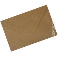C5 A5 Brown Ribbed Kraft Envelopes 100gsm Diamond Flap
