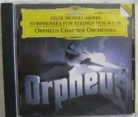 Orpheus Chamber Orchestra Mendelssohn Symphonies 8,9,10 CD  DG 437 528-2