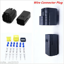Waterproof Car Automotive 5 Sets 6 Pin Way Amp Sealed Wire Connector Plug Black