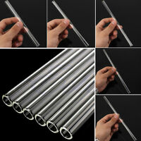 10mm Reusable Thick Straws Wedding Birthday Party Clear Glass Drinking Straws