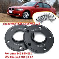 2pcs 10mm 5x120 PCD 72.6 CB Hub Wheel Spacers Hubcentric For BMW E36 E46 E60  /