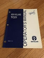 Genuine New Holland Tc21 Compact Tractor Operatirs Operation Manual