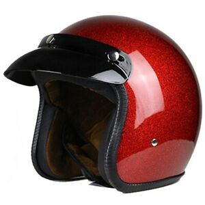 VegaII Vintage Motorcycle Helmet for Men & Women Classic Retro Open Face Design