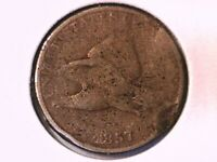 1857 Flying Eagle Cent Genuine Raw Ungraded 01353