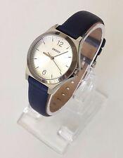 DKNY Damen Uhr blau silber Leder rund NY2480 Neu OVP