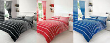 Unbranded Striped Cotton Blend Bedding Sets & Duvet Covers