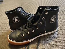 Converse Black Leather Athletic Shoes for Women for sale | eBay