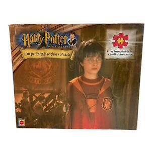 Harry Potter And The Sorcerer's Stone 100 Piece Puzzle Quidditch 2001 Mattel NEW