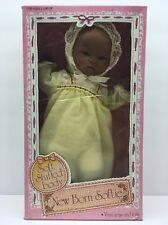 Vintage New Born Softie Baby doll Stuffed Body Vinyl Toy African American