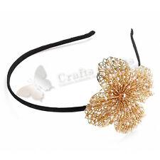 Intrigue Haarreifen 'Perlenblume' gold/rosa
