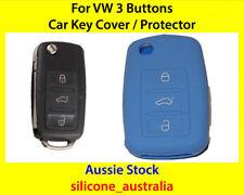 New Blue Silicone Car Key Cover for VW Volkswagen Golf Jetta Passat Polo Tiguan