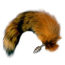Love Faux Fox Tail-Portable-Metal-Butt-Spiral Plug-Anal-Dildo-Sexy Adult Toy