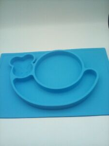 Toddler Silicone Placemat Snail Shaped for Babies Highchair/table Blue InfantYth