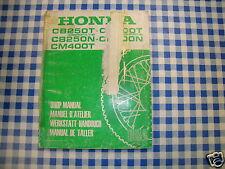 BB 6641302 Manual De Taller HONDA CB250 400 T N CM 400 t ediz. 1980