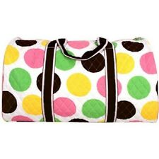 """21"""" Lollipop Drops Quilted Duffle Bag with Brown Trim-NWT"""