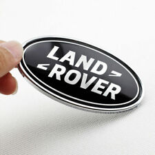 Land Rover Rear Tailgate Emblem Badge Black and Silver Oval Logo