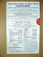 Leeds Grand Theatre & Opera 1947- Leslie Henson in 1066 AND ALL THAT~ R Arkell