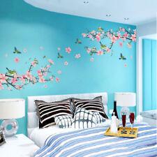 Sakura Japanese Pink Cherry Blossom Tree Branch Decor Wall Art Sticker Decal UK