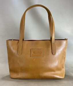 Parker Clay Eden Carryall tote in rust brown full grain leather made in Ethiopia