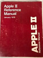 1978 APPLE ll REFERENCE MANUAL JAN 1978  the original RED BOOK by Steve Wozniak