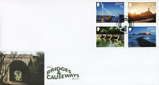 Jersey 2018 FDC Bridges & Causeways Europa 4v Cover Architecture Tourism Stamps
