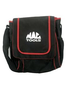 """Mac Tools Canvas Carrying Tool Bag 14"""" X 13"""" Black And Red"""
