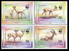 Niger WWF Dorcas Gazelle 4v in block 2*2 MNH MI#1460-1463 SC#983-986