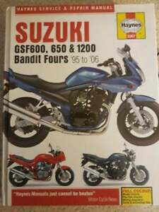 PRE OWNED HAYNES MANUAL SUZUKI GSF600, 650 & 1200 BANDIT FOURS 1995 - 2006
