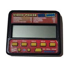 Vintage RADICA VIDEO POKER Royal Flush 2000 #410 Electronic Handheld Game Ready