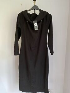 boohoo maternity Bardot Rib Midi Dress Uk 14