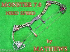 Mathews Monster 7.0  Compound Bow RH  60LBS. *SHIP WORLD WIDE**