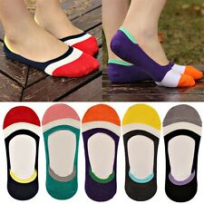 7 Pairs Casual Women Striped Invisible Low Cut No Show Socks Cotton Rich N Uzlh