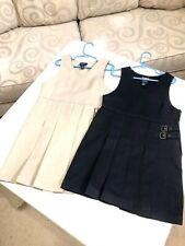 Girls School Uniform Dresses Lot (2) French Toast Size 6/6X Khaki/Black