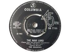 "THE SHADOWS - THE WAR LORD 7"" VINYL SINGLE"