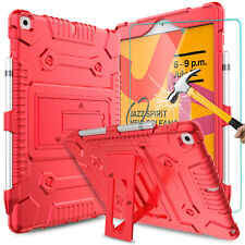 For iPad 10.2 inch 7th Generation Gen Case Stand Silicone Cover/Screen Protector