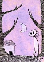 21022035 e9Art ACEO Spirit Ghost Outsider Folk Art Brut Painting Cartoon Naive