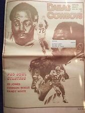 """"""" NFL Dallas Cowboys Official Weekly Magazine December, 31, 1983; Vol. 9, No.29"""