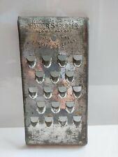 VINTAGE The Wonder Shredder METAL Curved Hand Shredder Cheese Grater