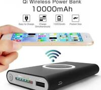 Portable Mini Power Bank Qi Wireless Charging Battery Phone Charger USB