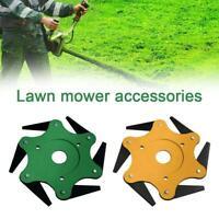 6 Steels Blade Razors 65Mn Lawn Mower Grass Eater Trimmer Head Brush Tool