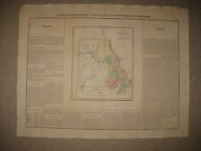 HUGE IMPORTANT ANTIQUE 1825 MISSOURI & TERRITORY CAREY & LEA BUCHON HANDCOLR MAP
