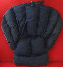 Réhausseur chaise haute ou siège bébé, confortable, coton marine, vintage France