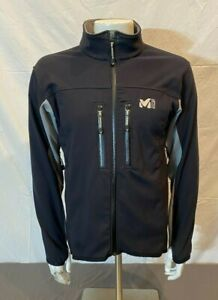 Millet Jannu PWS Black Fleece Lined Softshell Jacket Men's Large GREAT